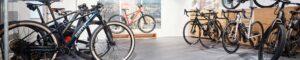 Fahrräder im Ausstelungsraum